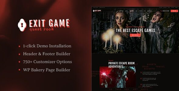 Exit Game Real Life Secret Escape Room WordPress Theme