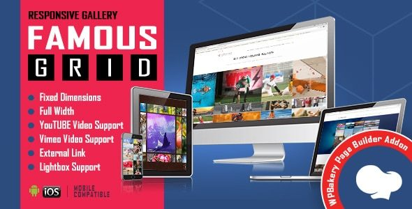 Famous Responsive Image & Video Grid Gallery for WPBakery Page Builder v1.0.3 Nulled