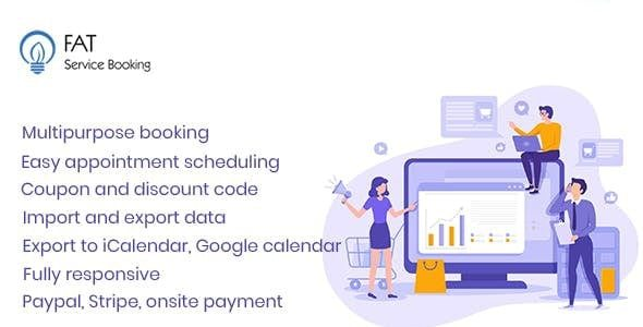v3.9 Fat Services BookingBooking and Scheduling Nulled