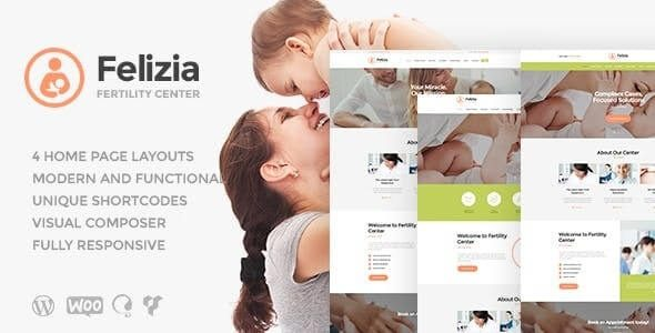 Felizia Fertility Center & Medical WordPress Theme