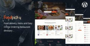 Food Delivery Restaurant Directory WordPress Theme FoodPicky