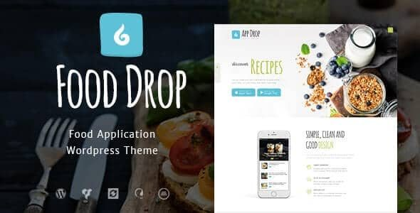 Food Drop Meal Ordering & Delivery Mobile App WordPress Theme