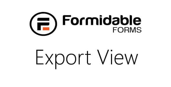 Formidable Export View to CSV