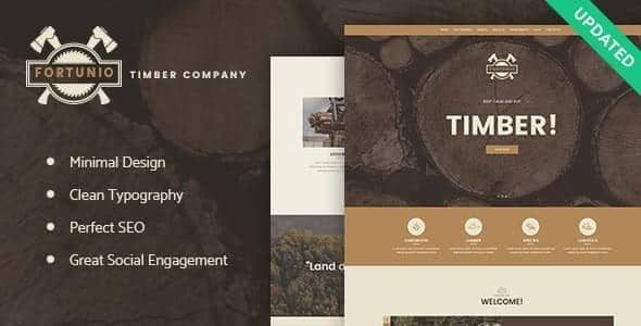 Fortunio Timber Forestry Wood Manufacture WordPress Theme