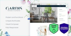 Gardis Blinds and Curtains Studio & Shop WordPress Theme v1.2.3 Nulled