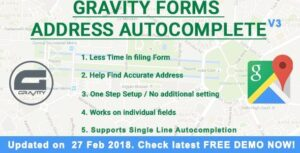 Gravity Forms Address Autocomplete v1.8.2 Nulled