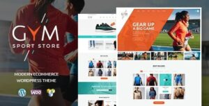 GYM | Sports Clothing & Equipment Store WordPress Theme v1.1.2 Nulled