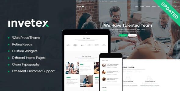 Invetex Business Consulting & Investments WordPress Theme RTL