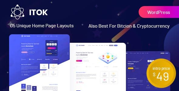 v.1.1.20 ITok – ICO and Cryptocurrency WordPress Theme Nulled
