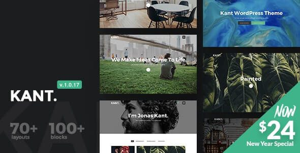 Kant A Multipurpose WordPress Theme for Startups, Creatives and Freelancers