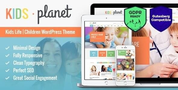 Kids Planet A Multipurpose Children WordPress Theme for Kindergarten and Playgroup