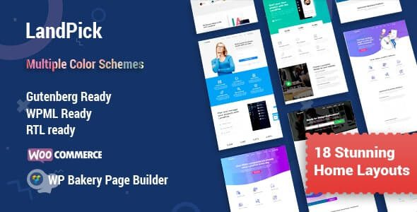 Landpick Multipurpose Landing Pages WordPress Theme
