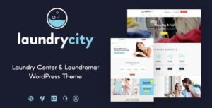 Laundry City | Dry Cleaning & Washing Services WordPress Theme v1.2.7 Nulled