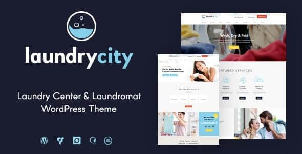 Laundry City Dry Cleaning & Washing Services WordPress Theme