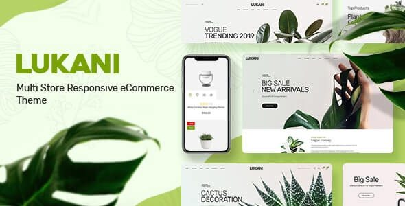 Lukani Plant Store Theme for WooCommerce WordPress v.1.1.0 Nulled