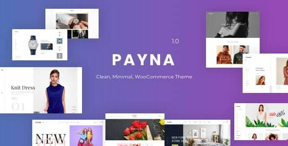 Payna Clean, Minimal WooCommerce Theme v.1.1.4 Nulled