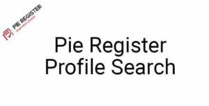 Pie Register (Add on) Profile Search v1.5 Nulled