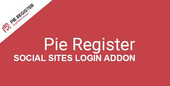 Pie Register Social Sites Login