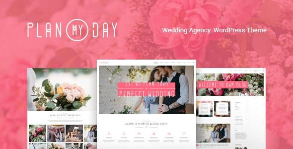 Plan My Day Wedding Event Planning Agency WordPress Theme