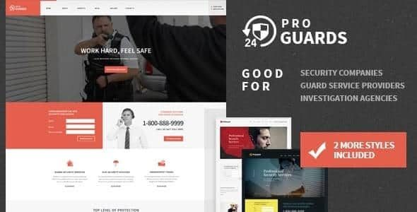 ProGuards Safety Body Guard & Security WordPress Theme
