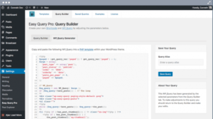 v2.3.1.1 Easy Query ProA visual query builder plugin for WordPress Nulled