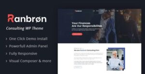 v.2.5 Ranbron – Business and Consulting WordPress Theme Nulled