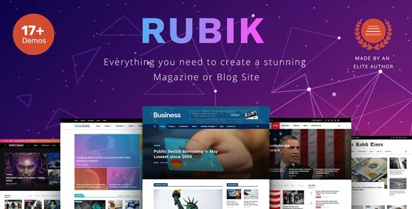 v.1.9.3 – Rubik – A Perfect Theme for Blog Magazine Website Nulled