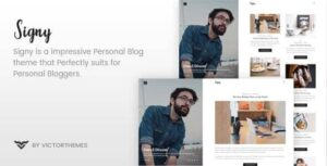 v.1.8.1 Signy – A Personal Blog WordPress Theme Nulled