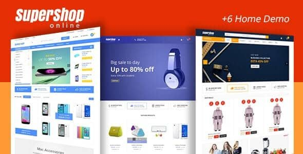 Super Shop Market Store RTL Responsive WooCommerce WordPress Theme