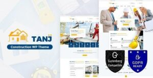 v.2.0 Tanj Construction – Architecture, Construction Theme Nulled