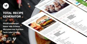 Total Recipe Generator for WPBakery Page Builder v2.3.2 Nulled