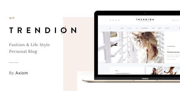 Trendion v.1.1.7 A Personal Lifestyle Blog and Magazine WordPress Theme Nulled