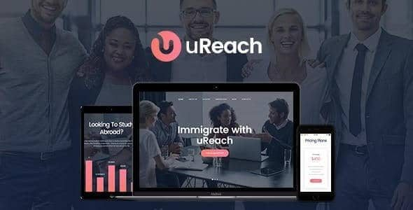 uReach Immigration & Relocation Law Consulting WordPress Theme
