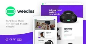 Weedles Virtual Reality Landing Page & Store WordPress Theme v1.1.3 Nulled