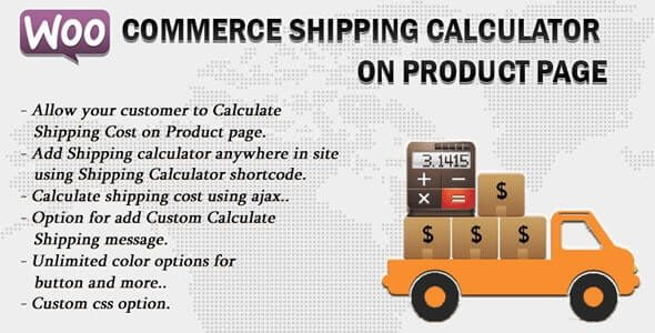 Woocommerce Shipping Calculator On Product Page v2.5 Nulled
