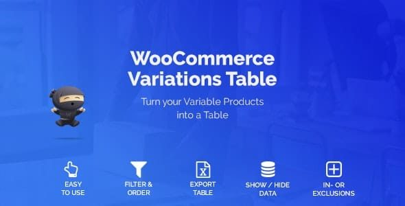 WooCommerce Variations Table v1.3.7 Nulled
