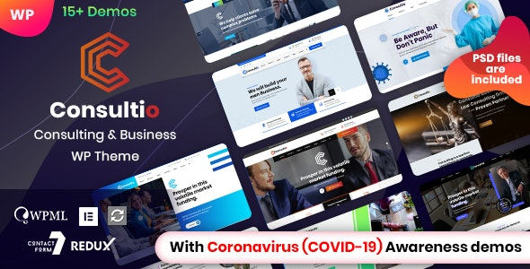 Consultio – Corporate Consulting WordPress Theme v2.0.1 Nulled