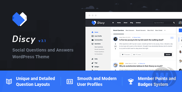 Discy v4.5.2 Nulled – Social Questions and Answers WordPress Theme