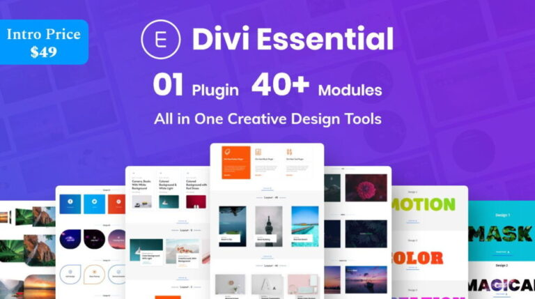 Divi Essential – All In One Creative Design Tools v4.2.5 Nulled