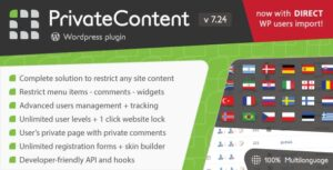 Private Content – Multilevel Content WordPress Plugin v7.3.7 Nulled