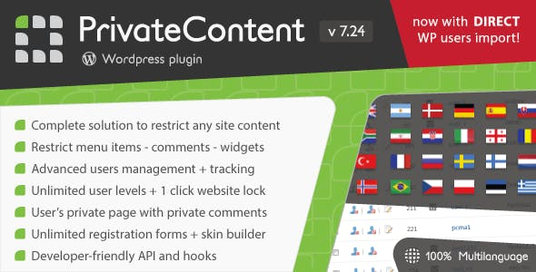 Private Content v7.3.7 Nulled – Multilevel Content WordPress Plugin