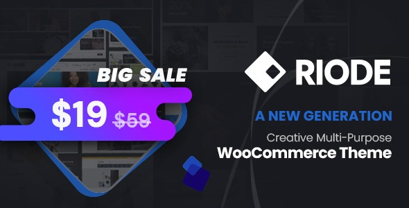 Riode – Multi-Purpose WooCommerce Theme v1.2.2 Nulled