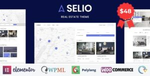 Selio – Real Estate Directory WordPress Theme v1.4 Nulled