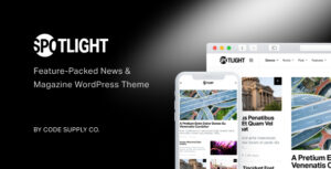 Spotlight – Feature-Packed News & Magazine WordPress Theme v1.6.6 Nulled