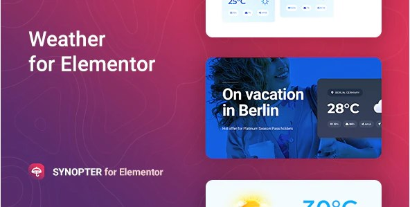Synopter – Weather for Elementor v1.0.1 Nulled