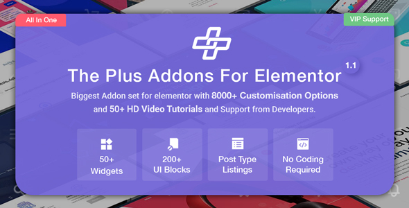 The Plus – Addon for Elementor Page Builder v4.1.12 Nulled