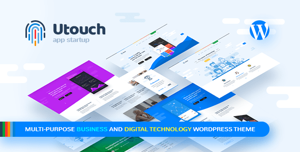 Utouch – Startup Business and Digital Technology WordPress Theme v3.2 Nulled