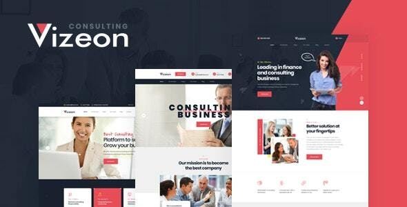 Vizeon – Business Consulting WordPress Themes v1.0.2 Nulled