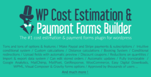 WP Cost Estimation & Payment Forms Builder v9.740 Nulled