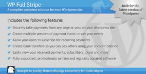 WP Full Stripe – Subscription and payment plugin for WordPress v5.5.5 Nulled